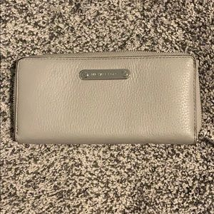 Michael Kors Grey Wallet- stains on back.